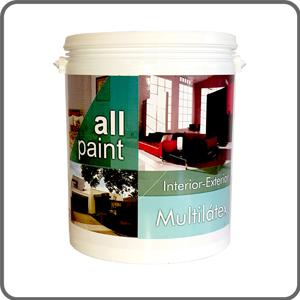 Pintura l tex all paint multiuso interior exterior blanco for Pintura latex interior