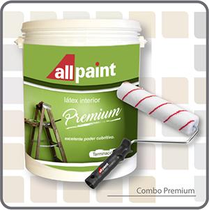 Combo premium latex interior mas rodillo antigoteo for Pintura latex interior